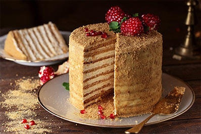 Medovik (Honey Cake), Russian Cuisine
