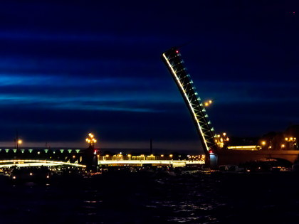 Night Boat Trip along St. Petersburg's Rivers and Canals