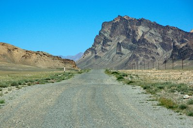 Road conditions on the Pamir Highway