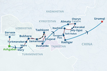 Silk Road Tour: 5 Stans and China