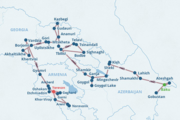 18-day Caucasus Tour: Best of Azerbaijan, Georgia & Armenia