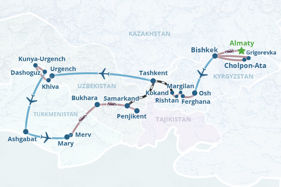 Central Asia on Silk Road Tour