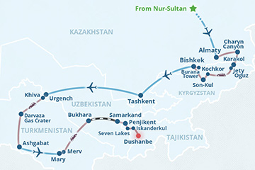 Central Asia Immersion Group Tour 2021-2022