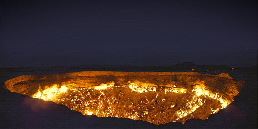 Darvaza gas crater - Door to Hell