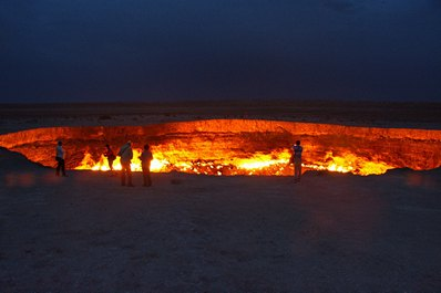 Darvaza Gas Crater. Turkmenistan Travel Guide