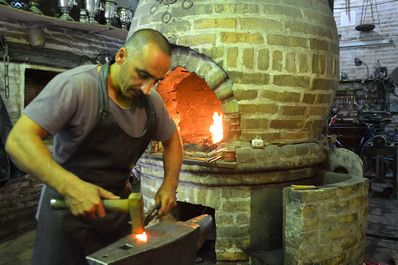 Working blacksmith, Bukhara