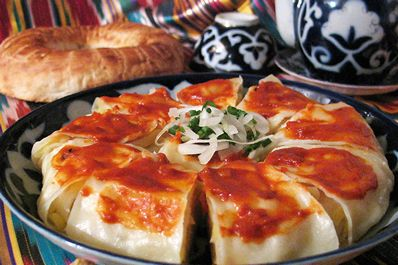 Uzbekistan Food Plov Shashlyk And Other Popular Uzbek Dishes