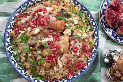Tovuk palov - Uzbek plov with chicken