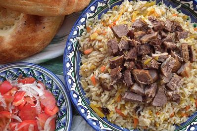 Sariegli palov - Uzbek plov on melted butter