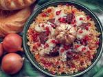 Serpiez palov - Uzbek plov garnished with onion