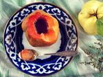 Узбекские сладости: димлама бехи - печеная айва с медом