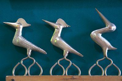 Ножницы в виде птиц
