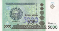 5000 sum, Uzbekistan Currency