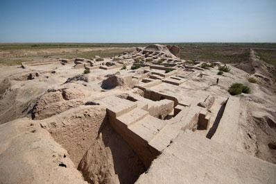 Ancient settlement Toprak-Kala, Karakalpakstan