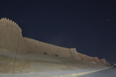 Walls of Itchan-Kala fortress, Khiva