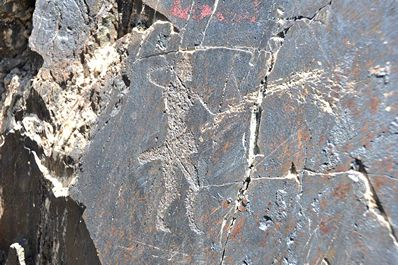 Petroglyphs in Uzbekistan