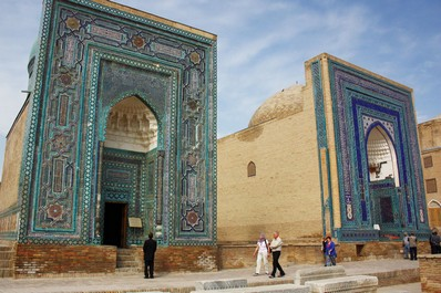 The burial complex Shahi-Zinda in Samarkand, Uzbekistan