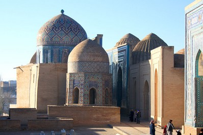 The burial complex Shahi-Zinda in Samarkand