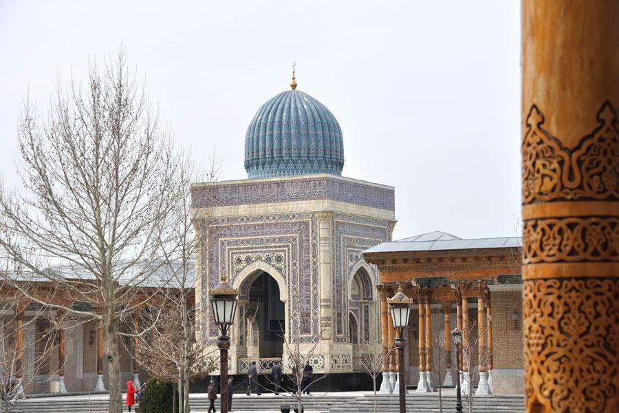 The mausoleum of Imam al-Bukhari, Samarkand