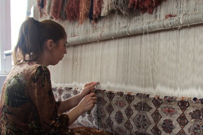 Silk carpet factory, Samarkand
