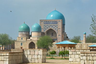 La mosquée Kok-Goumbaz, Chakhrisiabz