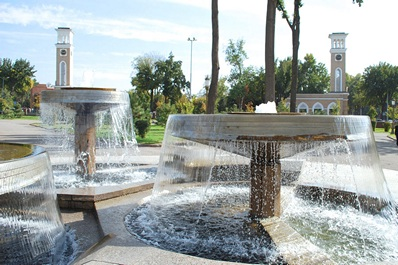 Fountains on the Square of Amir Temur, Tashkent