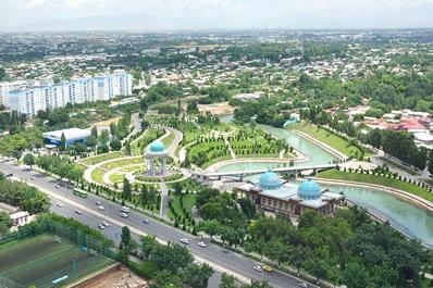 Aerial view of Tashkent