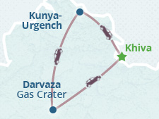Darvaza Gas Crater Group Tour 2021 (from Khiva)