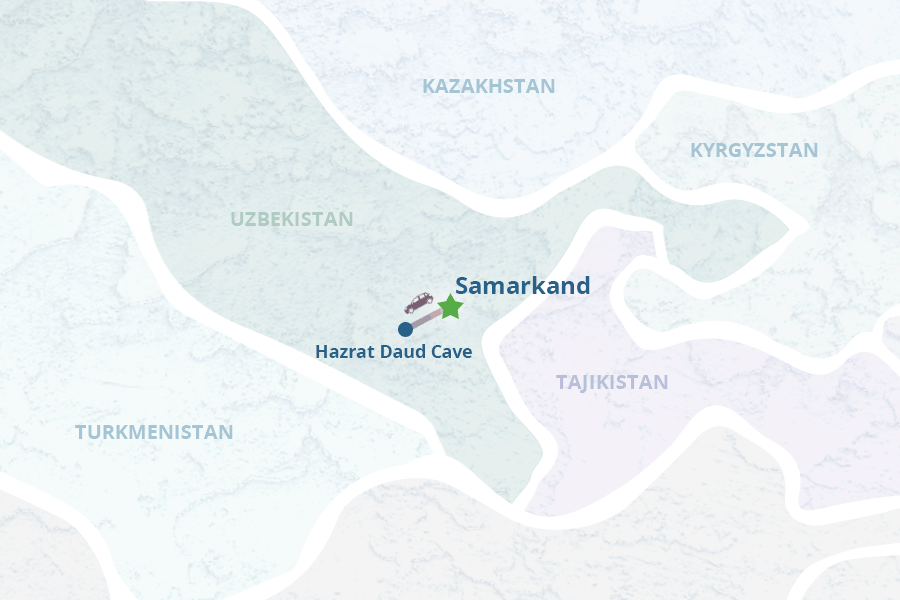 Tour To The Sacred Cave Of Hazrat Daud In Samarkand Vicinity - Samarkand map