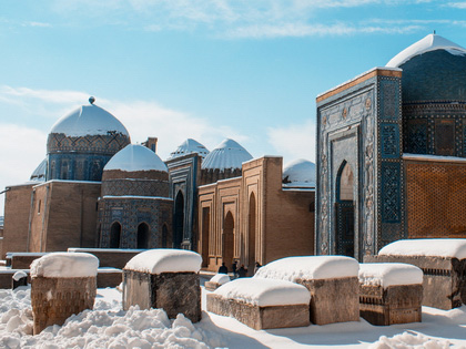 Uzbekistan scheduled tours in winter
