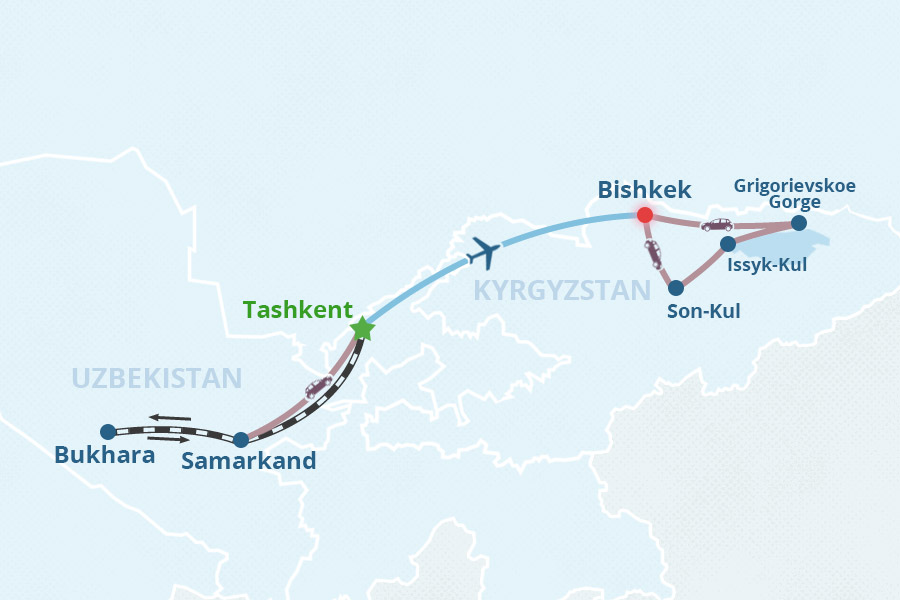 Uzbekistan kyrgyzstan tour 1 tours to tashkent bukhara samarkand though they have much in common kyrgyzstan and uzbekistan have their own characters this uzbekistan kyrgyzstan tour starts with the great cities of gumiabroncs Choice Image