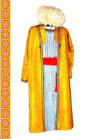 Traditional Uzbek clothing. Surkhandarya