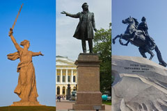 Famous Sculptures - Motherland Calls, Pushkin, Peter the Great, Culture of Russia