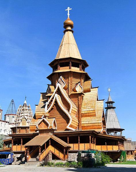 Wooden chapel of the izmailovo kremlin izmailovo estate