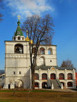The belfry of the Trinity Cathedral in the Ipatiev Monastery in Kostroma
