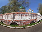 Red brick wall of Ipatevsky monastery, Kostroma