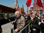 The queue at the Lenin Mausoleum in Red Square, Moscow