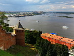 View of Strelka river from the Nizhny Novgorod Kremlin, Nizhny Novgorod