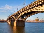 Bridge over Oka river, Nizhny Novgorod