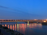 Bridge over the Irtysh River in Omsk, Russia