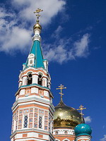 Dormition Cathedral in Omsk, Russia
