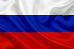 Die Flagge Russlands