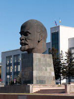 One of the largest monuments to Lenin in the former Soviet Union