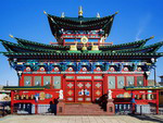 Ulan-Ude: Temple of the Pure Land or Etigel Khambin Temple which contains the body of 12th Pandito Hambo Lama