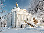 The temple in the historic center of Yaroslavl
